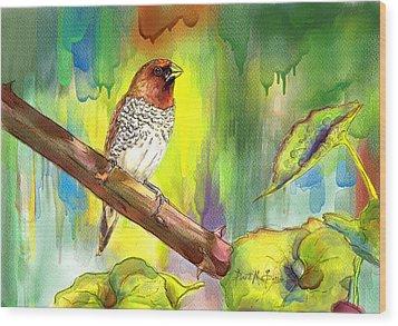 Pinzon Canella Wood Print by Janet Garcia