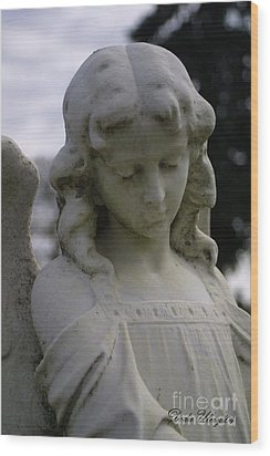 Wood Print featuring the photograph Pioneer Angel by Dodie Ulery