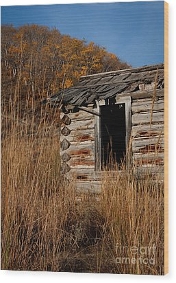 Pioneer Homestead Wood Print by Idaho Scenic Images Linda Lantzy
