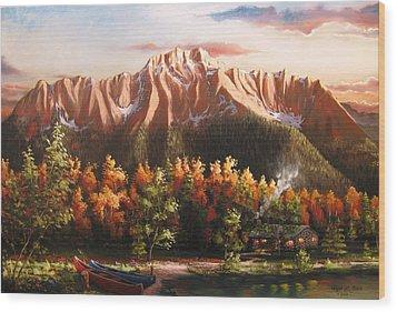 Pioneer Peek Wood Print by Ryan L  Jones
