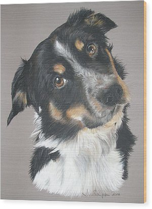 Pip Wood Print by Joanne Simpson