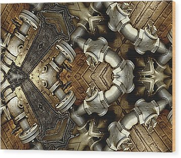 Pipe Dreams Wood Print by Wendy J St Christopher