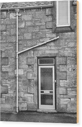 Wood Print featuring the photograph Pipes And Doorway by Christi Kraft