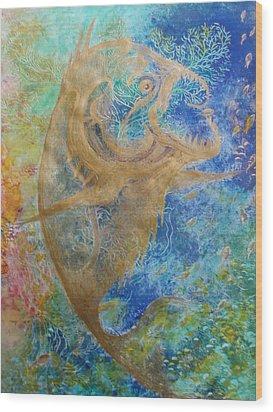 Piranha Water Wood Print