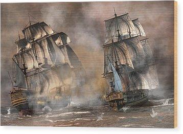 Pirate Battle Wood Print