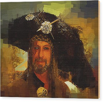 Pirate Wood Print by Clarence Alford