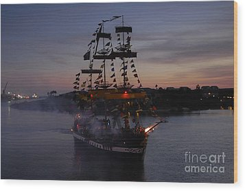 Pirate Invasion Wood Print by David Lee Thompson