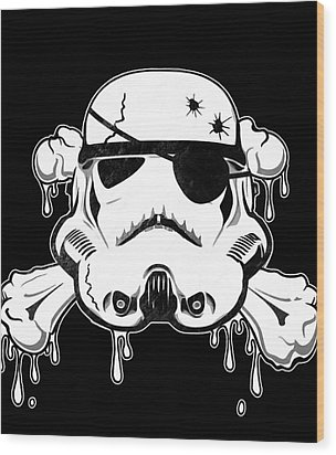 Pirate Trooper Wood Print