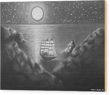 Pirates' Cove Wood Print by Nicole I Hamilton