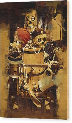 Pirates Loot Wood Print by Clarence Alford