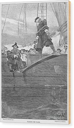 Pirates: Walking The Plank Wood Print by Granger