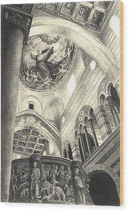Pisa Duomo Wood Print by Norman Bean