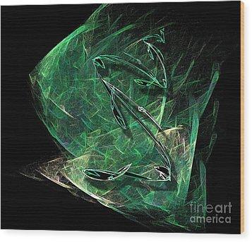 Pisces Wood Print by Viktor Savchenko