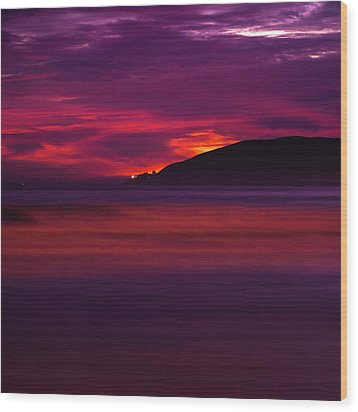 Wood Print featuring the photograph Pismo Beach On Fire - California - Usa by Gregory Ballos