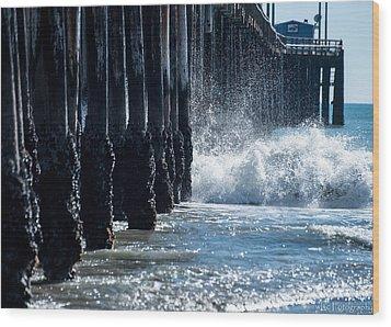 Pismo Pier Wood Print