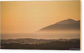 Pismo Sunrise Wood Print