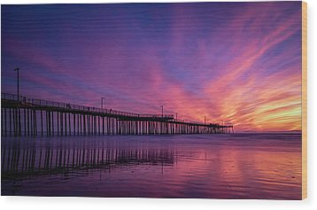Wood Print featuring the photograph Pismo's Palette by Sean Foster