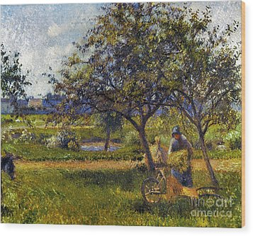 Pissarro: Wheelbarr., 1881 Wood Print by Granger
