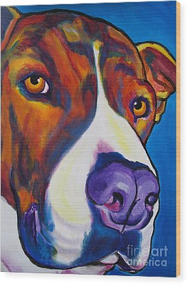 Pit Bull - Eric Wood Print by Alicia VanNoy Call