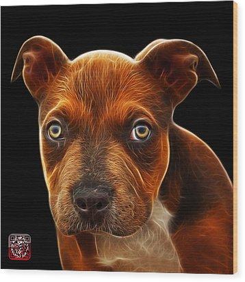 Pitbull Puppy Pop Art - 7085 Bb Wood Print by James Ahn