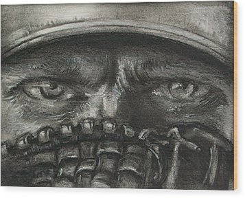 Pitchers Eyes Wood Print by Tom Forgione