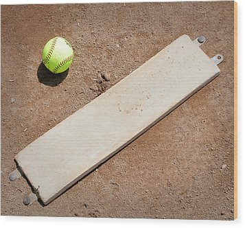 Pitchers Mound Wood Print by Kelley King