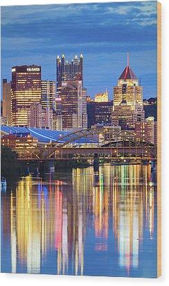 Pittsburgh 2 Wood Print by Emmanuel Panagiotakis