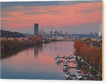 Pittsburgh 31st Street Bridge  Wood Print by Emmanuel Panagiotakis