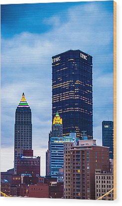 Pittsburgh - 7012 Wood Print by G L Sarti