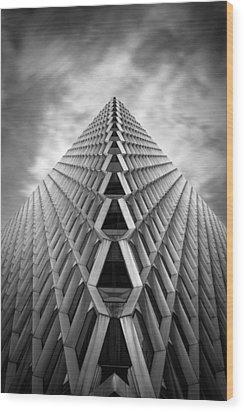 Pittsburgh Architecture  3bw Wood Print by Emmanuel Panagiotakis