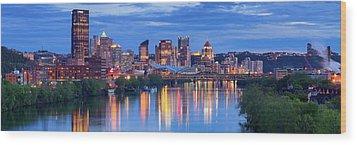 Pittsburgh Pano 13 Wood Print by Emmanuel Panagiotakis