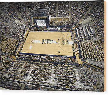 Pittsburgh Panthers Petersen Events Center Wood Print by Replay Photos
