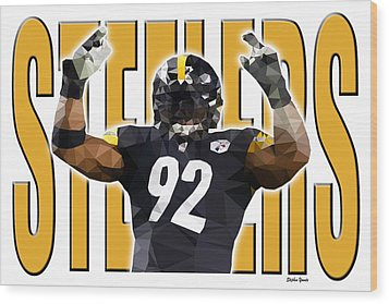 Wood Print featuring the digital art Pittsburgh Steelers by Stephen Younts