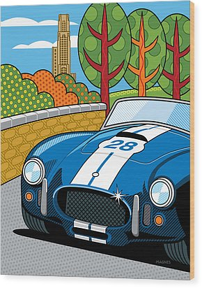 Pittsburgh Vintage Grand Prix Wood Print by Ron Magnes