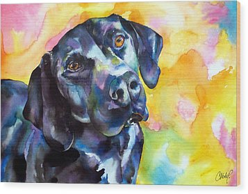Pixie Dog - Black Lab Wood Print