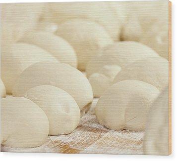 Pizza Dough Rising Wood Print