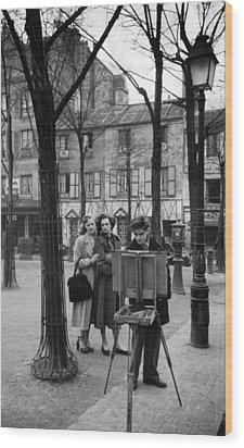 Place Du Tertre Wood Print by Kurt Hutton
