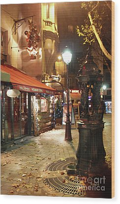 Place St Michel To Rue Saint-andre Des Arts Wood Print