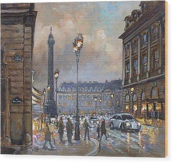 Place Vendome, Paris Wood Print