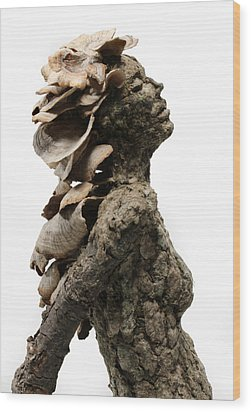 Placid Efflorescence A Sculpture By Adam Long Wood Print by Adam Long
