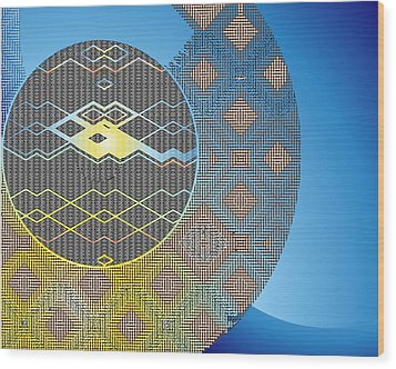 Wood Print featuring the digital art Plaid by Lynda Lehmann