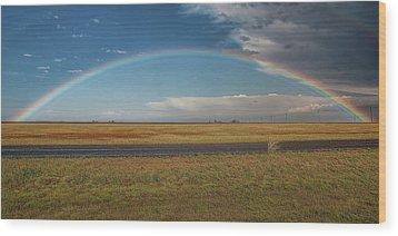 Plainview Rainbow Wood Print