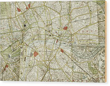 Wood Print featuring the photograph Plan Of Central London by Patricia Hofmeester