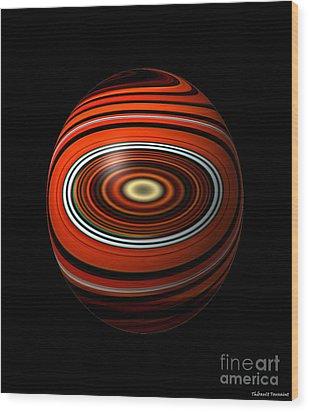 Planet Eye Wood Print