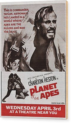 Planet Of The Apes, Top Charlton Wood Print by Everett