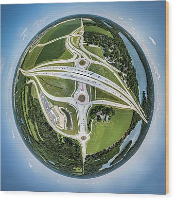Wood Print featuring the photograph Planet Of The Roundabouts by Randy Scherkenbach