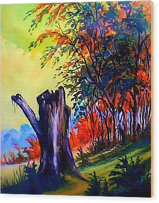 Planeta Verde Wood Print by Leomariano artist BRASIL
