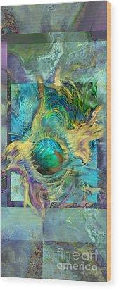 Planetary Collision 2 Wood Print