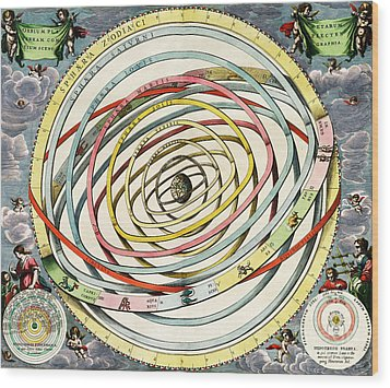 Planetary Orbits, Harmonia Wood Print by Science Source