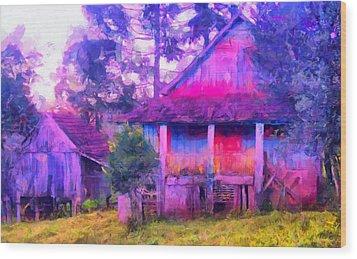 Plank Homes Wood Print